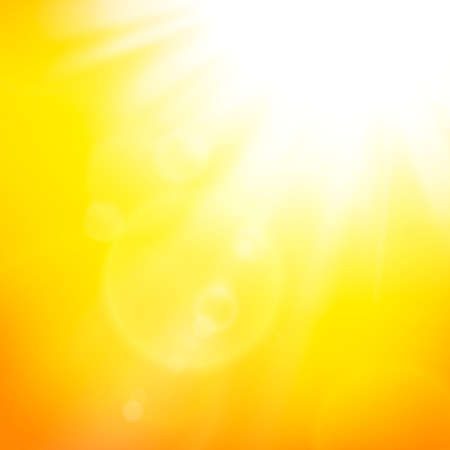 yellow shine: abstract background with summer sun and lens flares