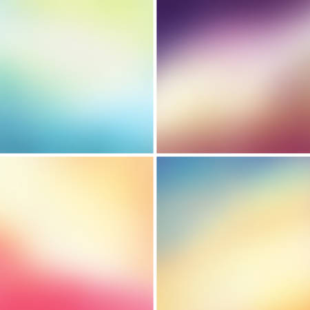 Abstract colorful blurred backgrounds set