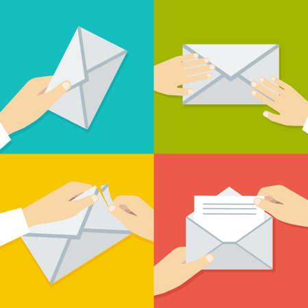 envelope: Hand Holding Envelope.