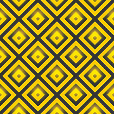 repeated: Retro pattern of geometric shapes. Seamless pattern with squares