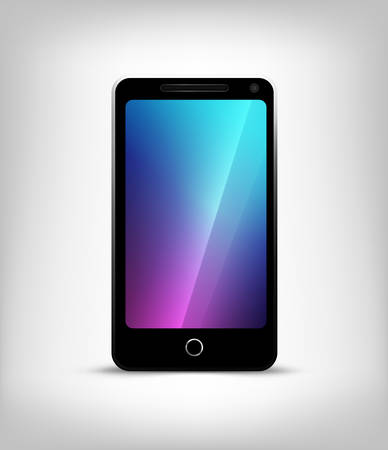 Perfectly detailed modern smart phone isolation vector Vector