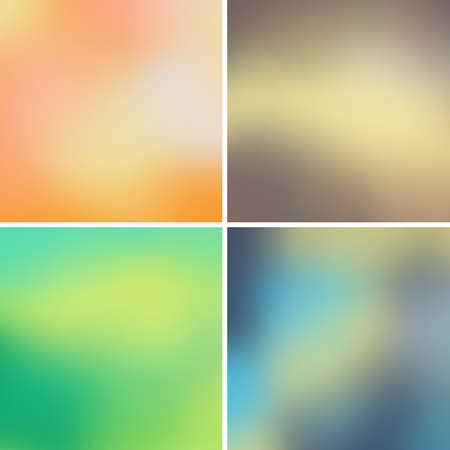 Abstract colorful blurred vector backgrounds set 15