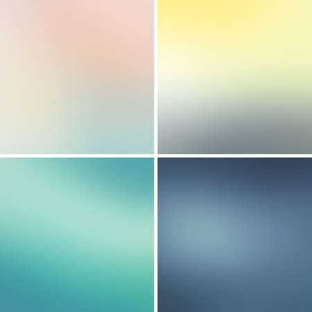 Abstract colorful blurred vector backgrounds set 14
