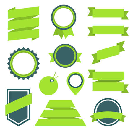 Vector Stickers and Badges Set 11. Flat Style Illustration Vector