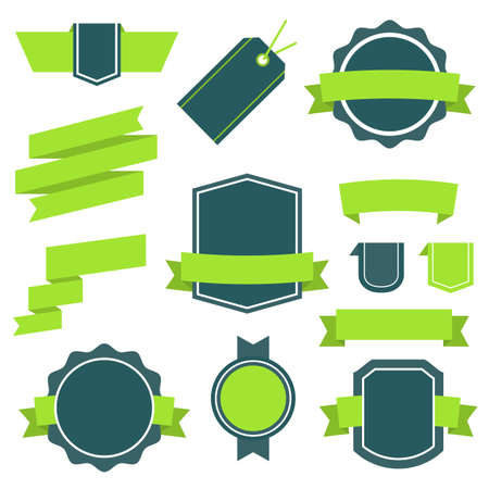 Vector Stickers and Badges Set 10. Flat Style Illustration Vector