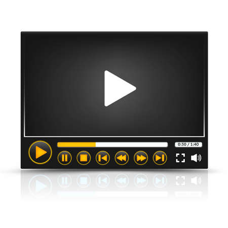 windows media video: Interfaz Vector media player