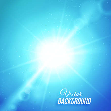 Vector abstract background with sun and lens flares Vector