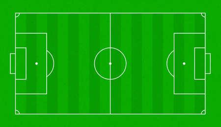 Textured grass soccer field. Football green field vector background Vector
