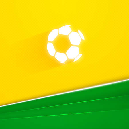Abstract geometric background using Brazil flag colors  Vector illustration Vector