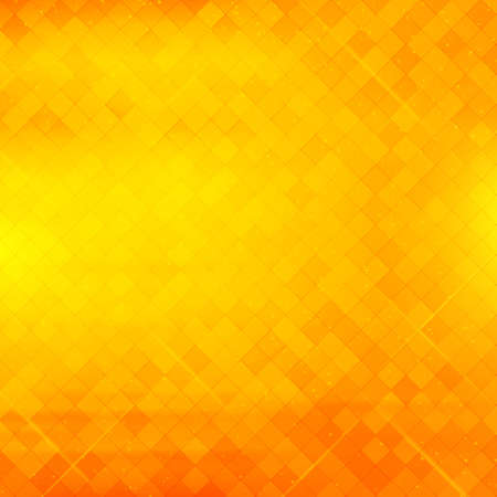 at yellow: Abstract square pixel mosaic background.