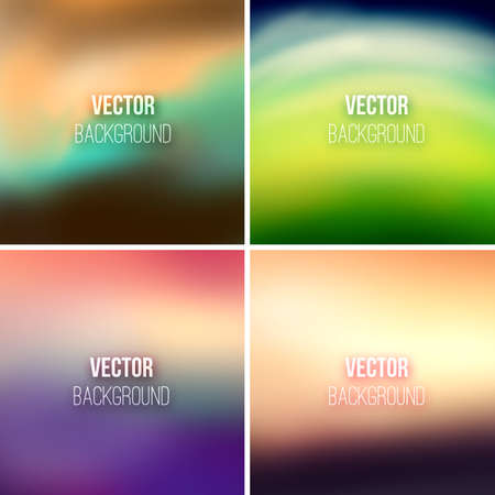 Abstract colorful blurred backgrounds set 25.  Illustration