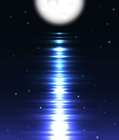 moonrise: Moon reflection over water