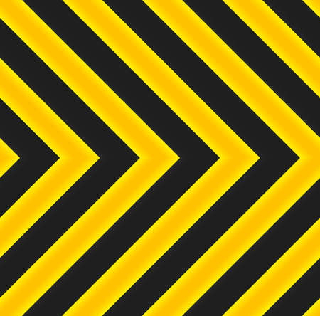 Yellow and black marking. Directional street sign. Vector seamless pattern Vector