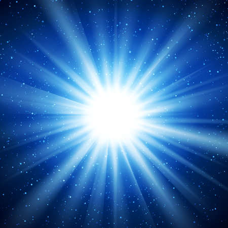 star light: Abstract glowing vector background. Star light with flares and bokeh. Holidays magical pattern