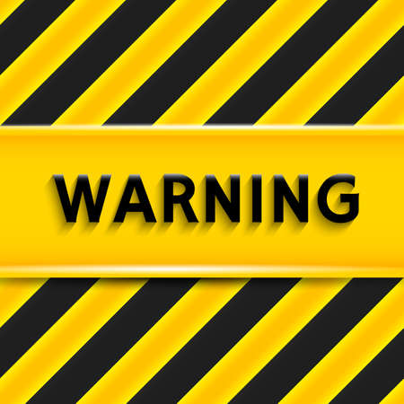 Warning sign. Attention of danger glossy background. Vector seamless pattern of yellow and black stripes Vector