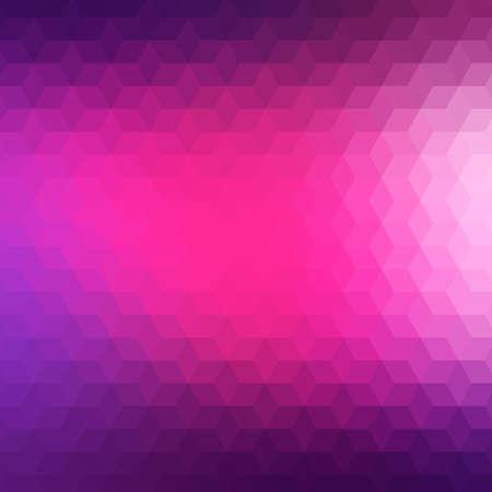 morado: Fondo geométrico colorido con triángulos. Patrón de mosaico borrosa Vectores