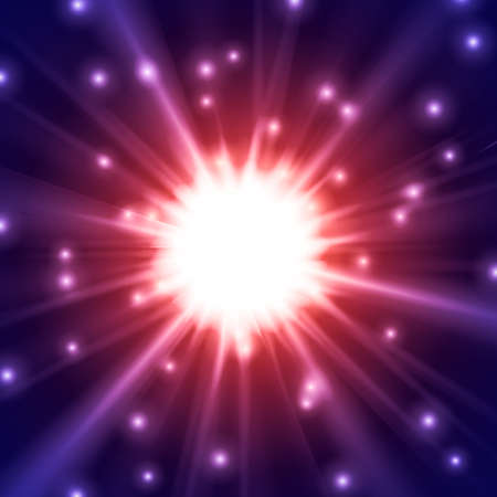 star light: Abstract glowing vector background. Star light with flares. Holidays magical pattern