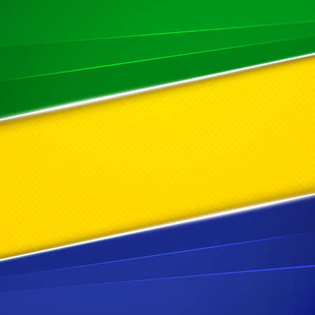Abstract geometric background using Brazil flag colors. Vector illustration