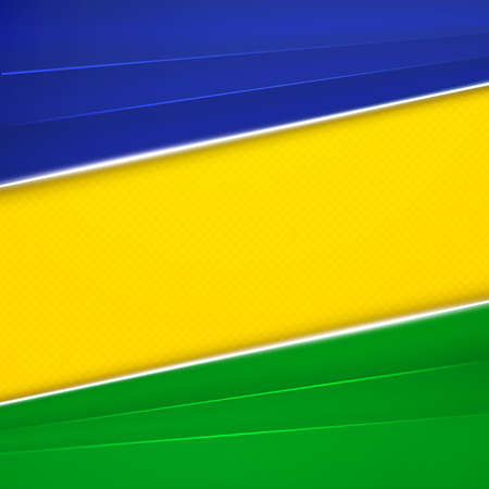 brazil: Abstract geometric background using Brazil flag colors. Vector illustration