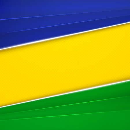 brazil flag: Abstract geometric background using Brazil flag colors. Vector illustration