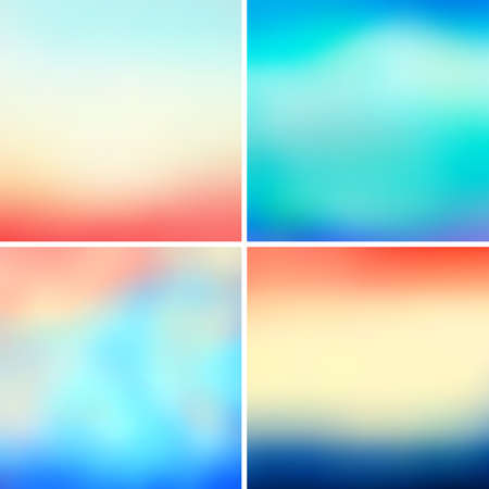 blurred: Abstract colorful blurred vector backgrounds set 20 Illustration