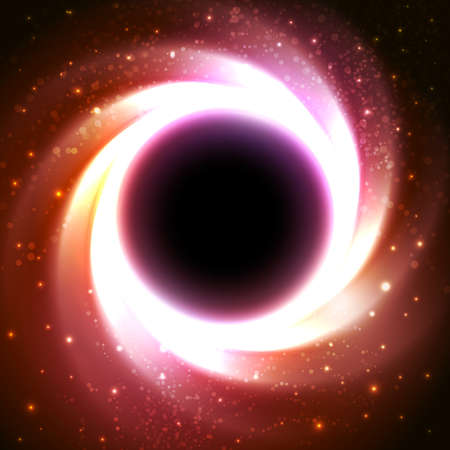 galactic center: Black hole at the galactic center. Abstract space vector background