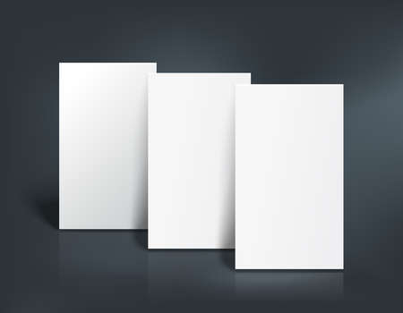 Stack Of Two White Pages Booklet Business Card Postcard Or - Business card templates for pages