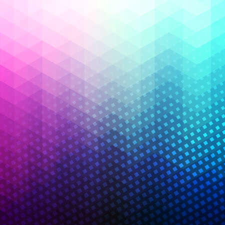 Colorful abstract geometric vector background. Triangle shapes. Mosaic pattern. Hipster background with copyspace. Retro styled banner template. Halftone with squares