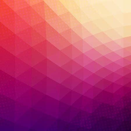 Kleurrijke abstracte geometrische vector achtergrond. Driehoek vormen. Patroon van het mozaïek. Hipster achtergrond met copyspace. Retro stijl banner template. halftone effect