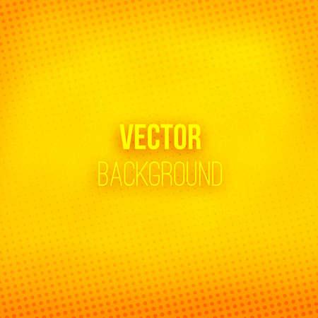 fondo borroso de color amarillo con efecto de semitono. gradiente de color naranja. patrón de puntos. resumen de antecedentes brillante. Ilustración del vector. Ilustración de vector