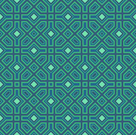 Naadloos patroon met oosterse ornament. Eastern stylish abstract vector achtergrond. Kleurrijke vlakke textuur voor het verpakken. Oosters patroon. Stock Illustratie