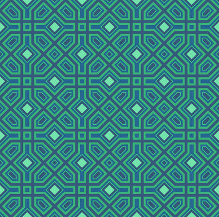 green background pattern: Seamless pattern with eastern ornament. Eastern stylish abstract vector background. Colorful flat texture for wrapping. Oriental pattern.