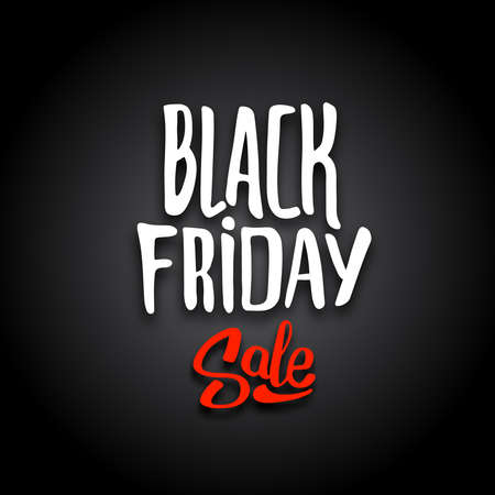 biggest: Black Friday sale template. Typography, hand drawn lettering and calligraphic design elements. Poster or banner for biggest sale of the year.