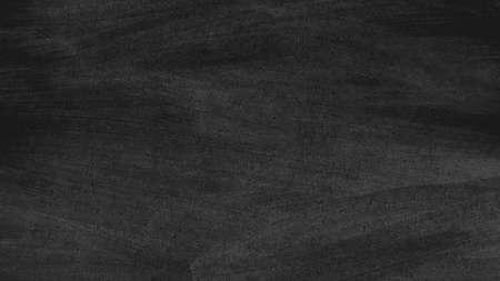 close out: Close up of clean school blackboard. Chalk rubbed out on black horizontal chalkboard. Blackboard or chalkboard texture.