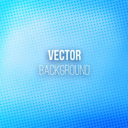 Blue blurred background with halftone effect. Blue gradient. Dotted pattern. Shiny abstract background. Vector illustration. Иллюстрация
