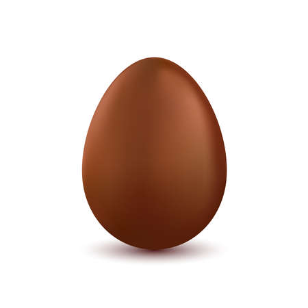 chocolate egg: Chocolate easter egg isolated on white background. Tasty chocolate egg. Easter decorations design. Realistic single chocolate egg. Vector illustration Illustration