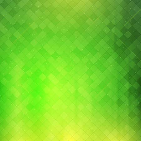 checker: Green checkered background. Abstract glowing green checker pattern.