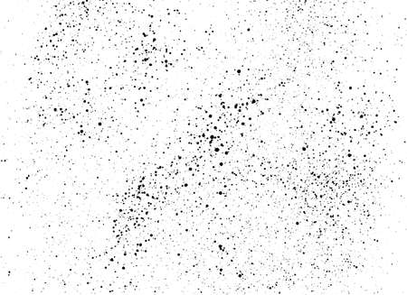 Black paint stains overlay texture. Ink blots isolated on white background. Abstract black blots and splashes drops. Grunge texture. Distress texture. Vector illustration.