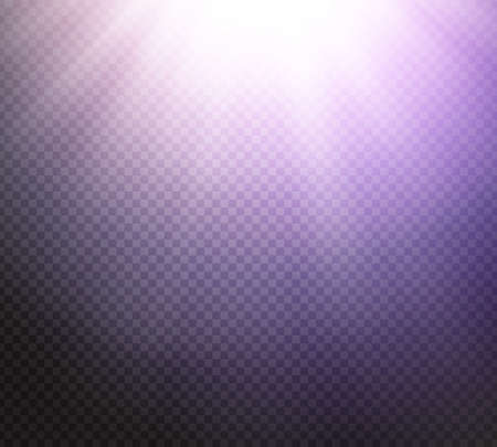 radiance: Sunlight or burst special light effect on transparent background. Glowing sun rays and toned radiance with transparency. Vector illustration