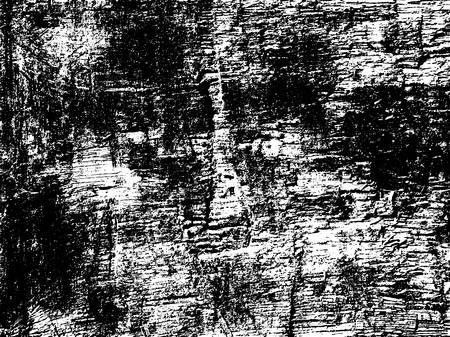 Dark grunge texture overlay. Aged paint texture. Dirty wall texture. Abstract grunge white and black background. Vector illustration. Stock Illustratie