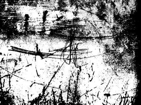 傷テクスチャ オーバーレイ。不良のテクスチャです。黒と白のグランジ背景色。錆テクスチャ オーバーレイ。抽象的な背景。ベクトル図