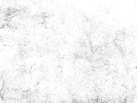 Gravel textuur overlay. Subtiele graan textuur geïsoleerd op een witte achtergrond. Abstract grunge witte en zwarte achtergrond. Vector illustratie.