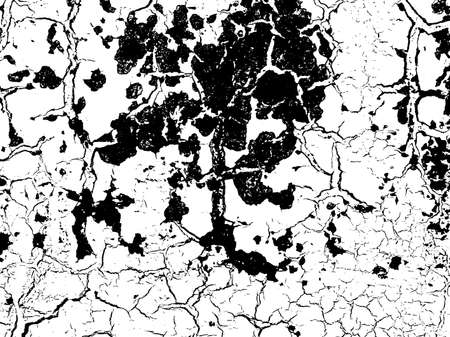 grit: Cracks texture overlay. Dry cracked ground texture. Cracked concrete wall texture. Abstract grunge white and black background. Vector illustration.