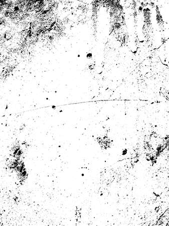 distress: Scratched texture overlay. Distressed texture. Black and white colored grunge background. Rust texture overlay. Abstract background. Vector illustration Illustration