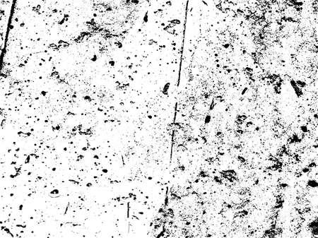 Verontruste textuur overlay. Aged bladderende verf textuur. Vuile muur textuur. Abstract grunge witte en zwarte achtergrond. Vector illustratie. Stock Illustratie