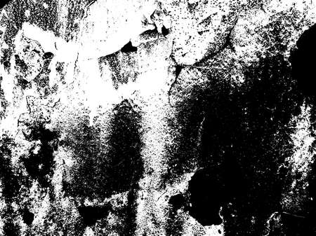 Dark grunge texture overlay. Aged paint texture. Dirty wall texture. Abstract grunge white and black background. Vector illustration.