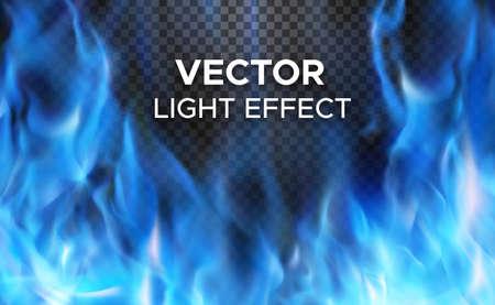 透明な背景の炎は燃え盛る火。特別な照明効果のベクトル