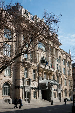 liszt: Budapest, Hungary - March 08, 2017: Exterior of the Franz Liszt Academy of Music in placed Ferenc Liszt Square. Includes a concert hall and music conservatory and founded in 1875