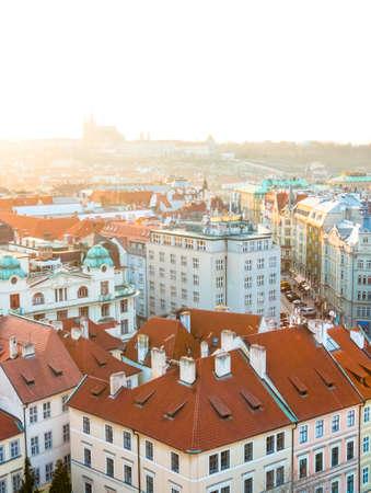 Sunset in Prague, Czech Republic.