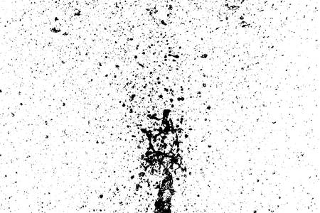 Black paint stains overlay vector texture. Ink blots isolated on white background.